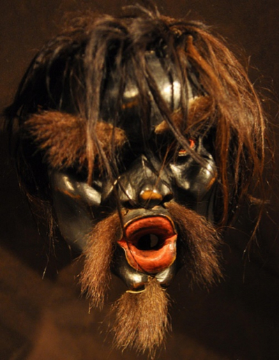 This mask is designated as a chief sasquatch mask at the First Peoples Gallery of the Royal B.C. Museum in Victoria, BC. (Generic url is http://royalbcmuseum.bc.ca )
